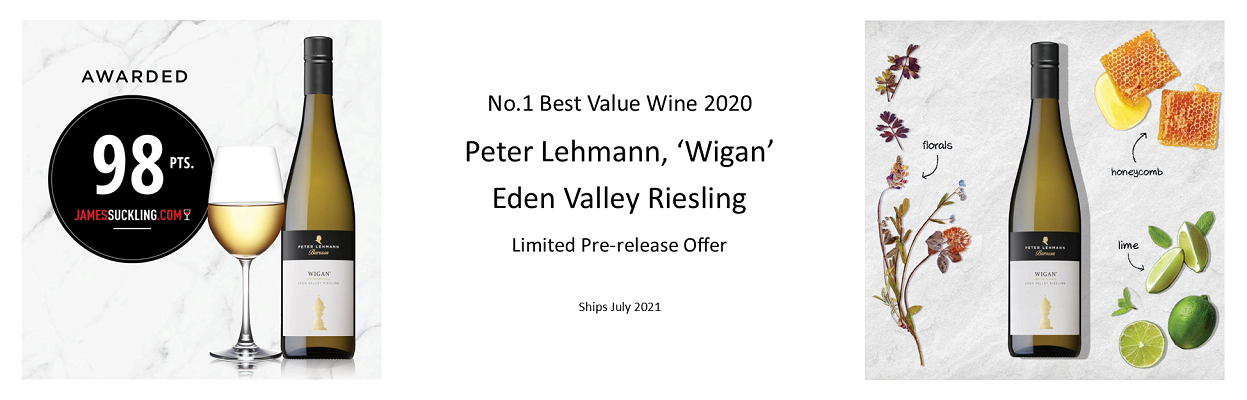 98pt Aussie Riesling for only £95 per 6, in bond