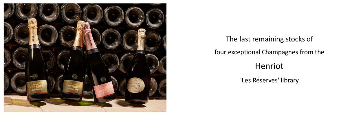 1996, 2000 & 2003 Champagne Henriot