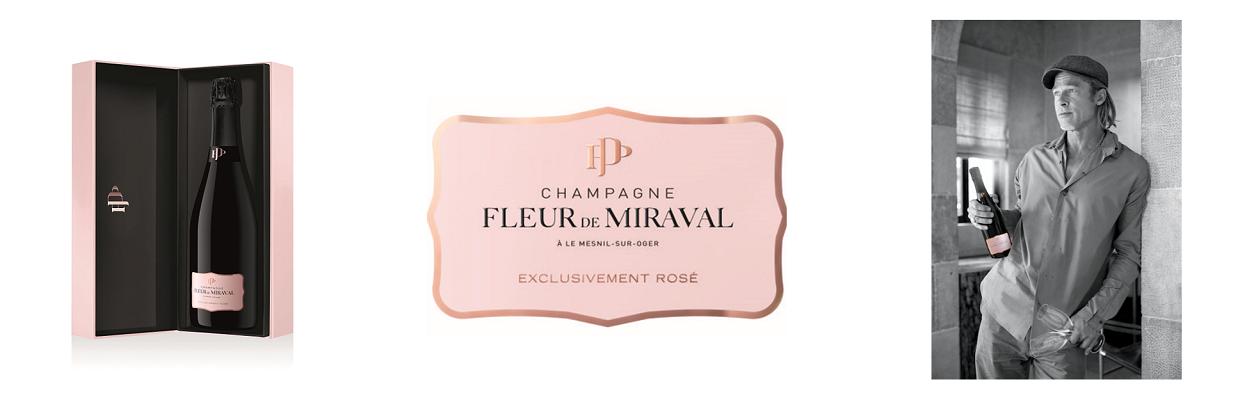 New Rose Champagne from Pitt - Jolie - Miraval