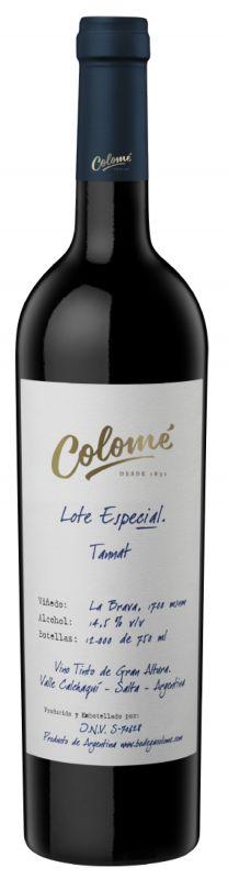 2018 Bodega Colome `Lote Especial`, `Finca Colomé` Salta Tannat, 6x750ml