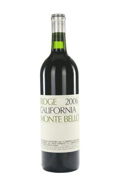 2010 Ridge, Monte Bello Red, 6x750ml