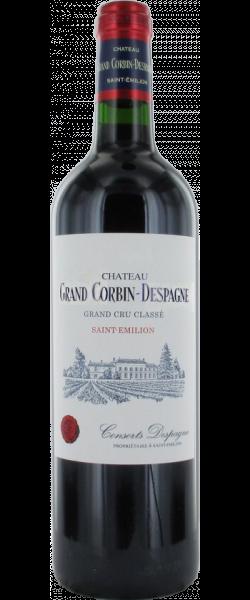 2019 Chateau Grand Corbin Despagne Grand Cru Classe, Saint Emilion Grand Cru, 6x750ml